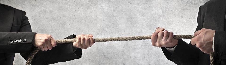 touwtrekken arbeidsconflict