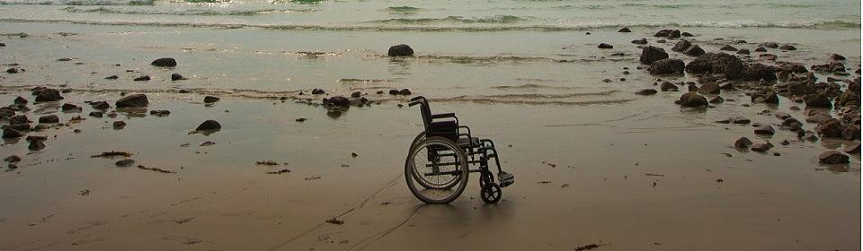 rolstoel strand arbeidsongeschikt